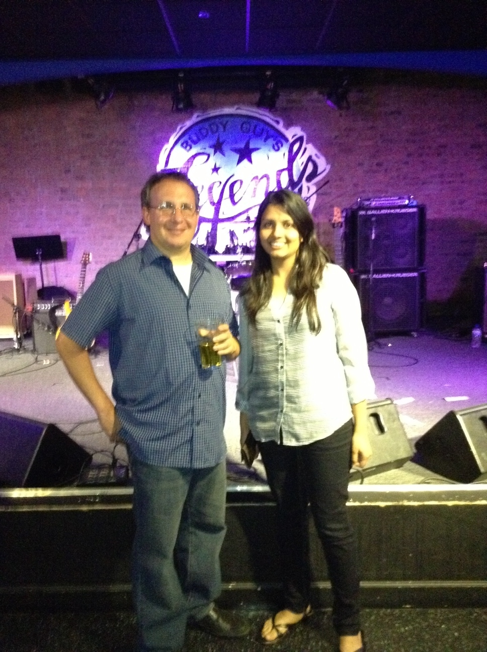 Barak and Hemangi at Buddy Guy's Legends