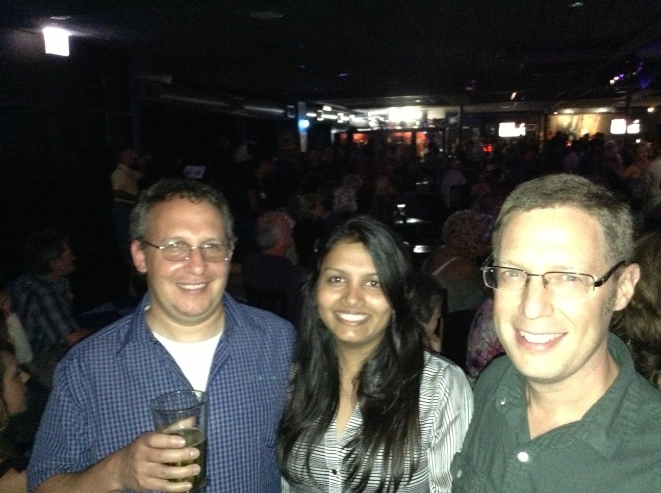 Barak, Hemangi, and Mike at Buddy Guy's Legends
