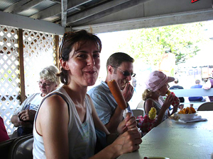 Ilaria Enjoying a Corn Dog at the MO State Fair