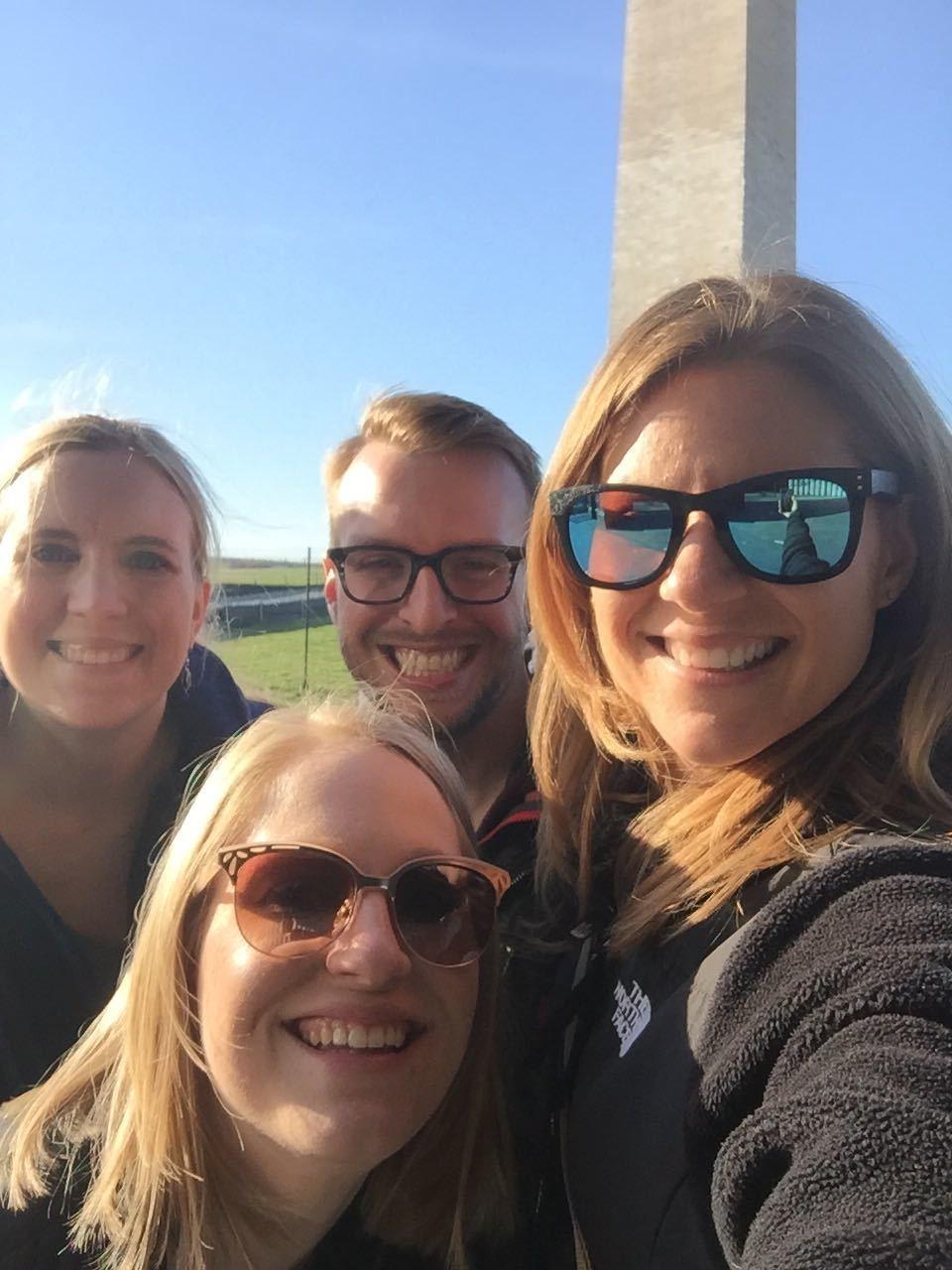Kayla, Katie, Nathan, and Susan @ WS Meeting (DC 2019)