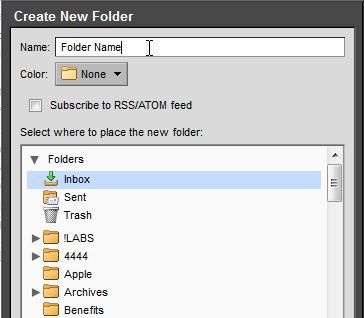 Zimbra Email: Creating a New Folder | Department of Genetics